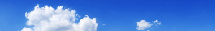 Blue sky and white clouds (Panorama)